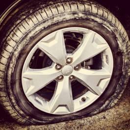 Flat Tire @ Denali
