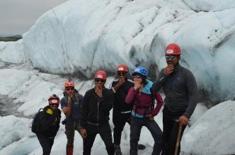 Glacier Hike with Team